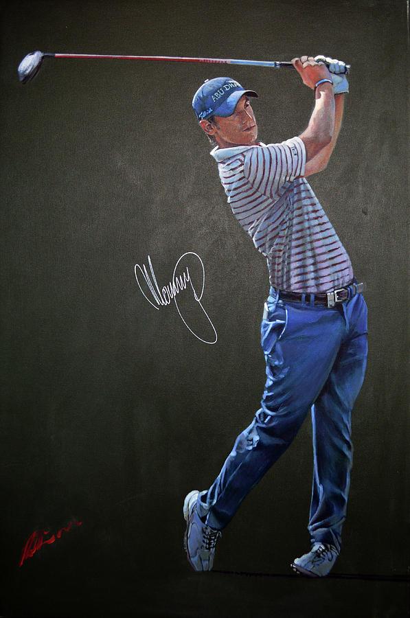 Golfers Painting - Matteo by Mark Robinson