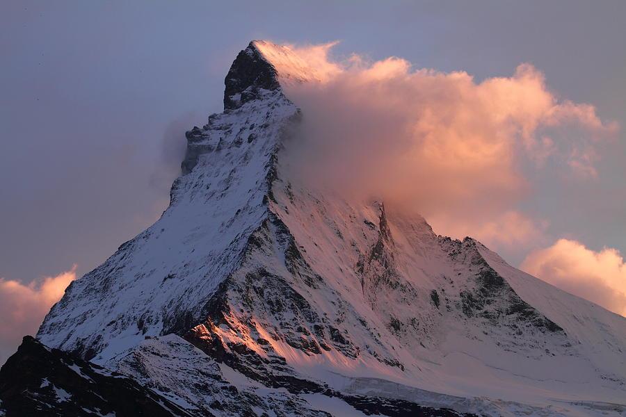 Matterhorn Photograph - Matterhorn At Dusk by Jetson Nguyen