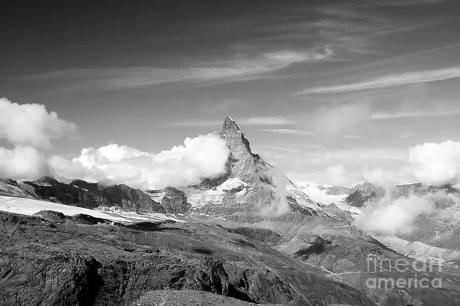 Matterhorn in black and white by Ivy Ho
