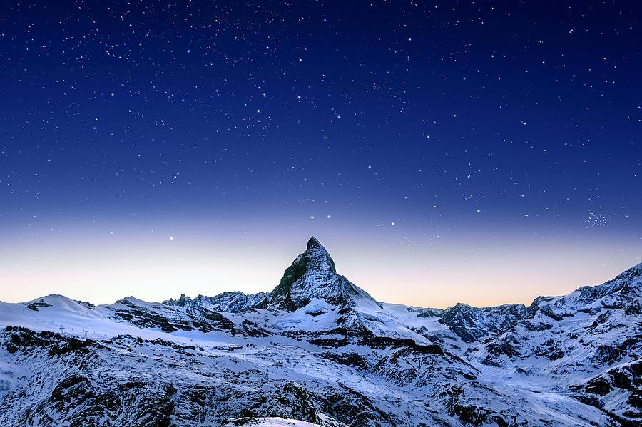 Landscape Photograph - Matterhorn Night by Nikos Stavrakas
