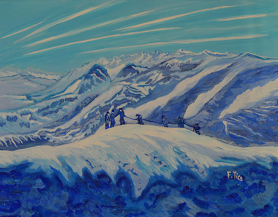 Snow Painting - Matterhorn Story - 2 - Daylight by Felicia Tica