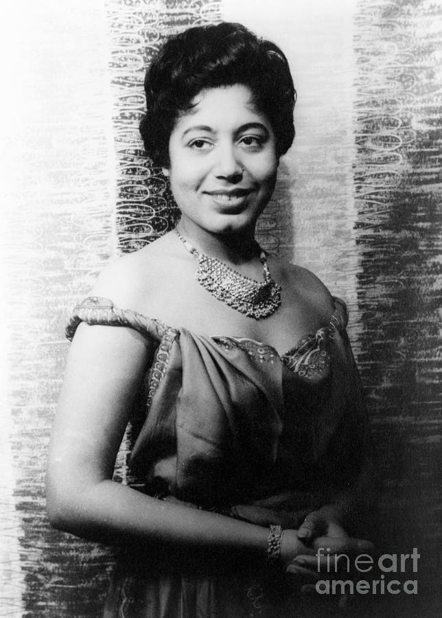 1955 Photograph - Mattiwilda Dobbs (1925- ) by Granger