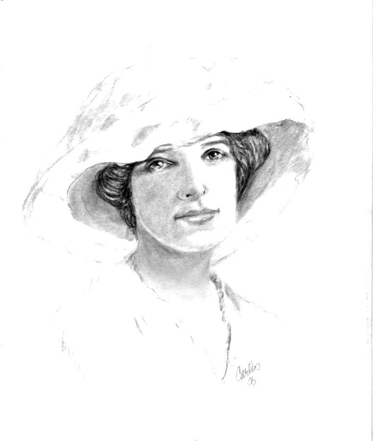 Maud - Sad Eyes Drawing by Carliss Mora