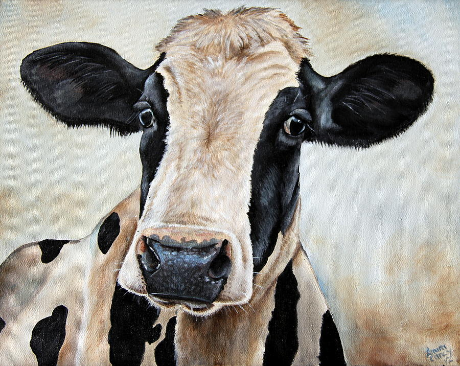 Cow Painting - Maude by Laura Carey