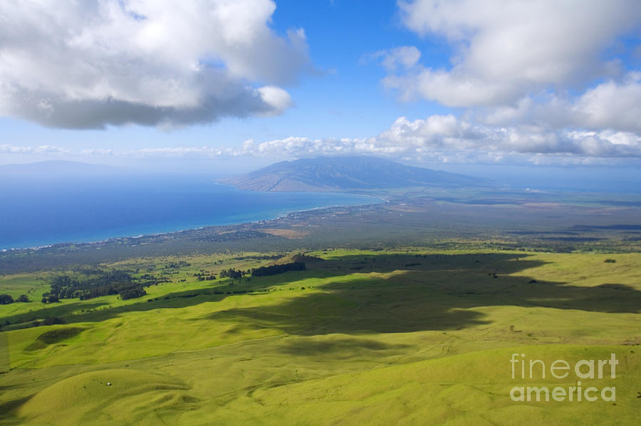 Aerial Photograph - Maui Aerial by Ron Dahlquist - Printscapes
