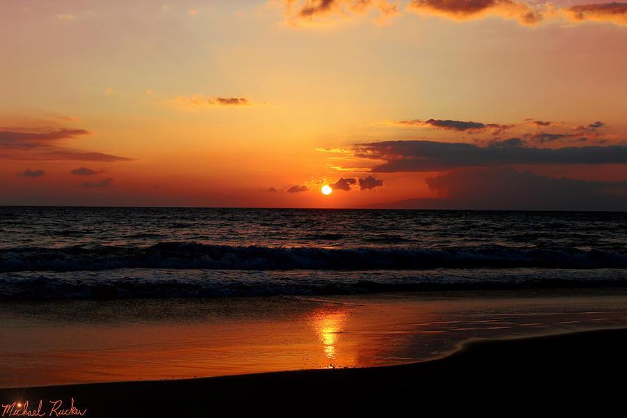 Hawaii Photograph - Maui Beach At Sunset by Michael Rucker