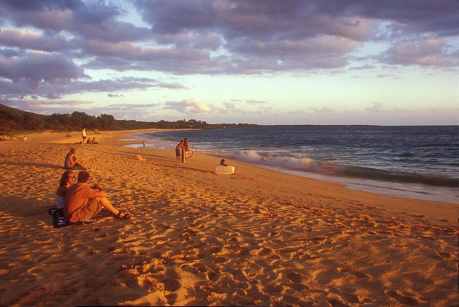 Hawaii Photograph - Maui Beach In Evening by John Burk