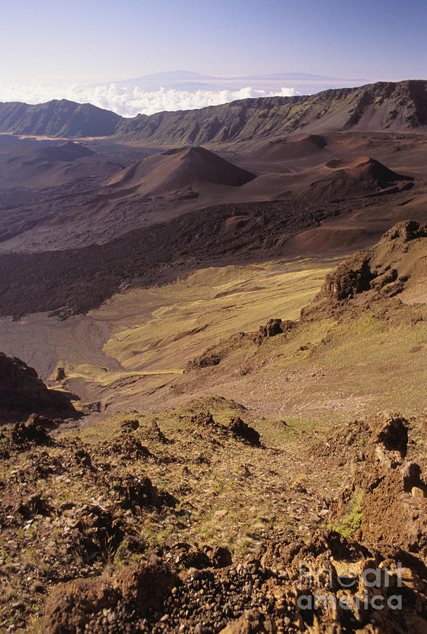 Barren Photograph - Maui, Haleakala Crater by Mary Van de Ven - Printscapes