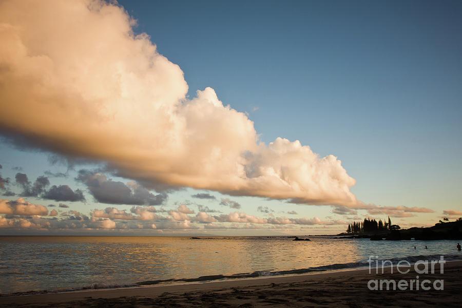 Beach Photograph - Maui Hawaii Sunset Stunning Clouds by Denis Dore