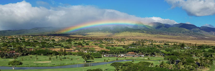 Maui Photograph - Maui Rainbow by Frank Testa