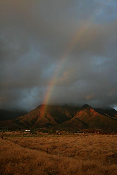 Landscape Photograph - Maui Rainbow Maui by Mike Malandra