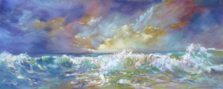 Seascape Painting - Maui Riptide by Rae Andrews