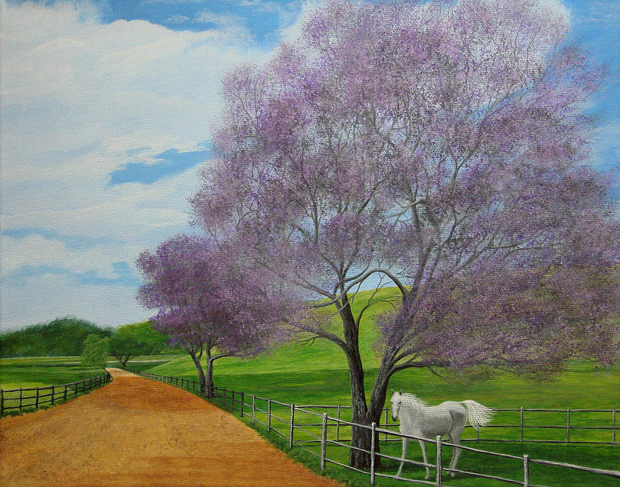 Hawaii Painting - Maui Upcountry by Jeffrey Oldham