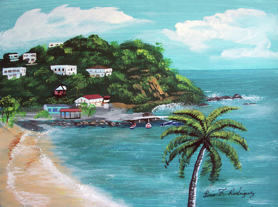 Maunabo Puerto Rico Painting by Luis F Rodriguez