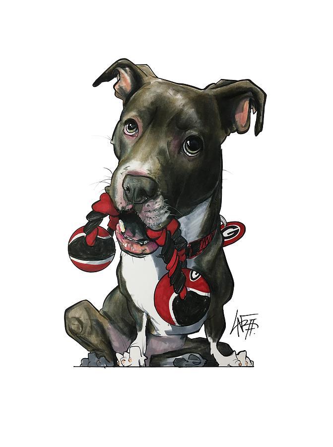 Pet Portrait Drawing - Mauras 3412 by John LaFree