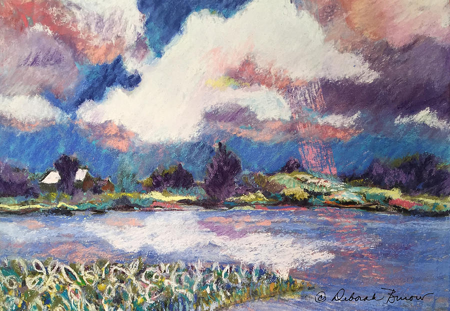 River Painting - Maurice River Heavens Delight by Deborah Burow