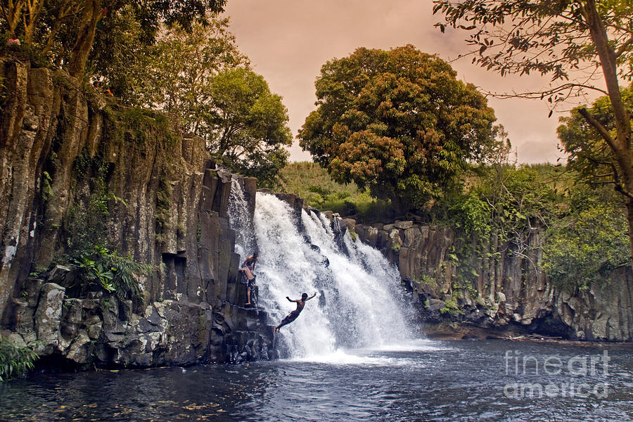 10 Metres Photograph - Mauritius Rochester Falls by Juergen Held