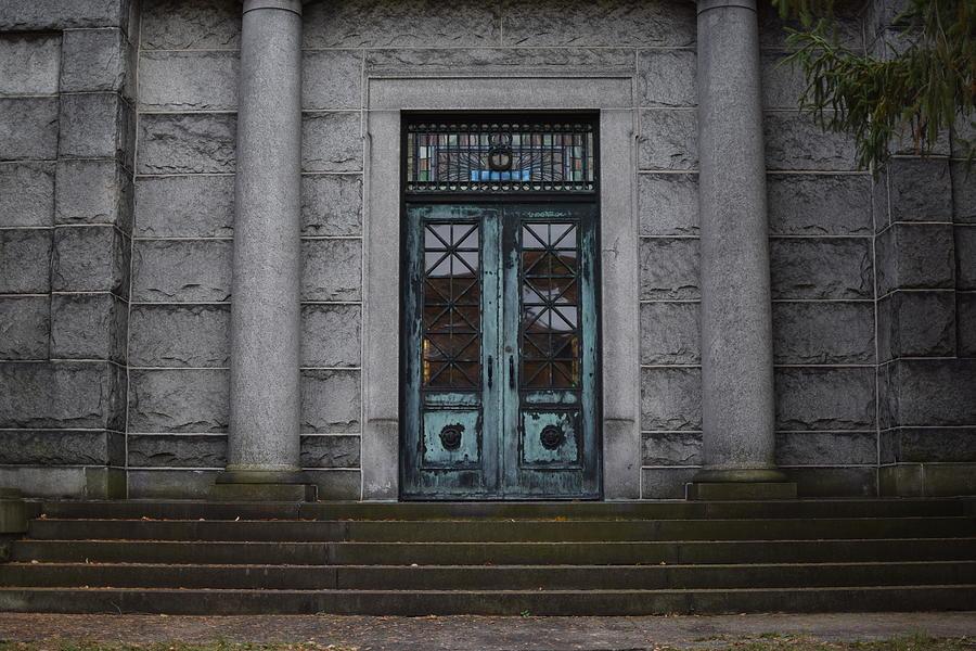 Mausoleum Photograph - Mausoleum Doors by Nicholas Trietsch & Mausoleum Doors Photograph by Nicholas Trietsch Pezcame.Com