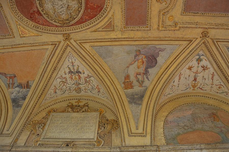 Italy Photograph - Mausoleum Frescos by JAMART Photography