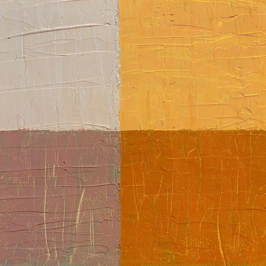 Abstract Painting - Mauve And Peach by Michelle Calkins