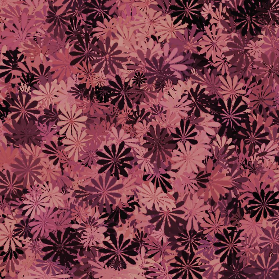 Mauve Floral Pattern Digital Art