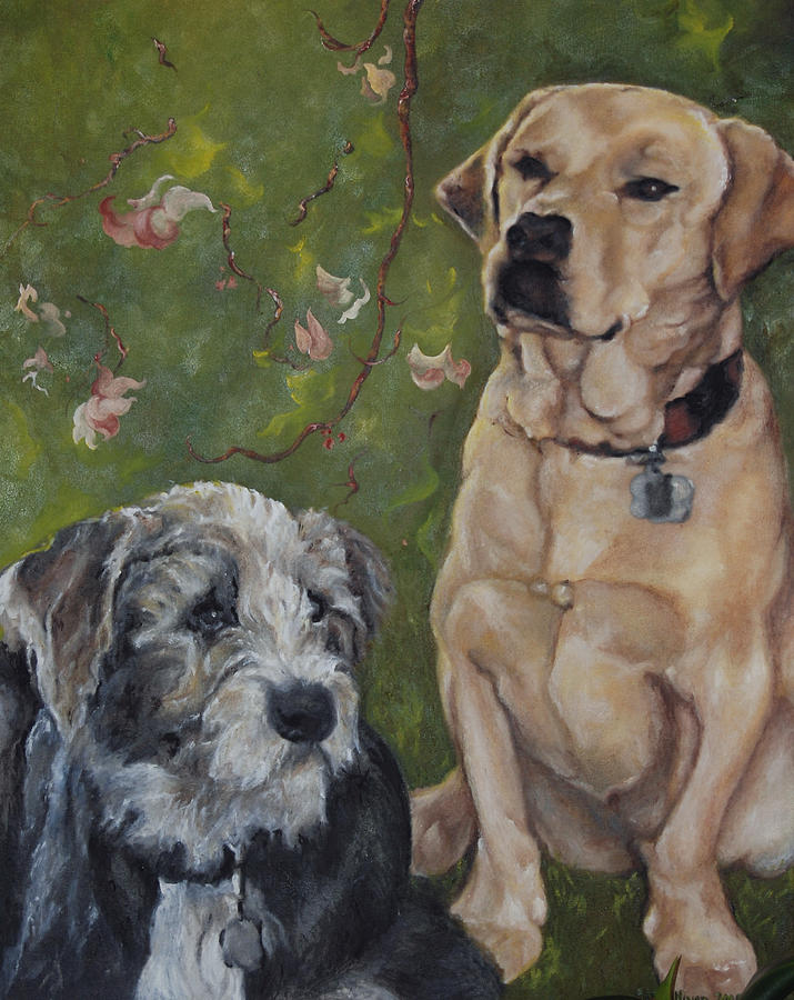Dogs Painting - Max and Molly by Stephanie Broker