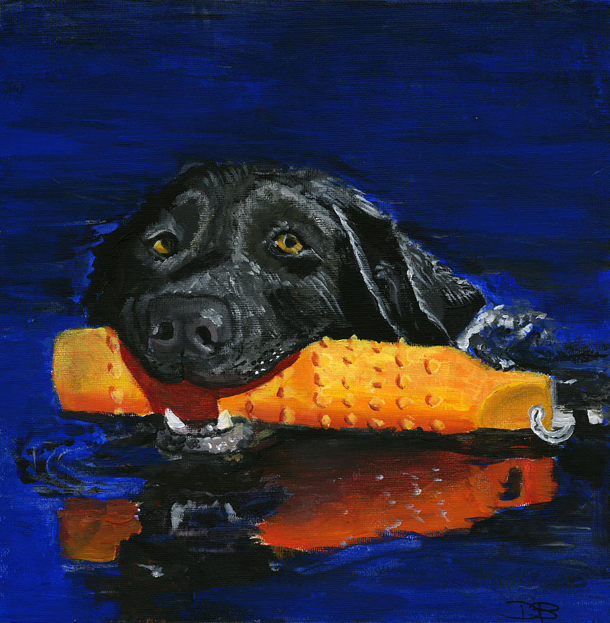 Dog Painting - Max by Debbie Brown