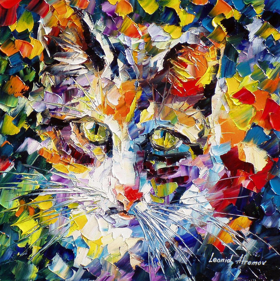 Max palette knife oil painting on canvas by leonid - Cuadros minimalistas modernos lo ultimo arte ...