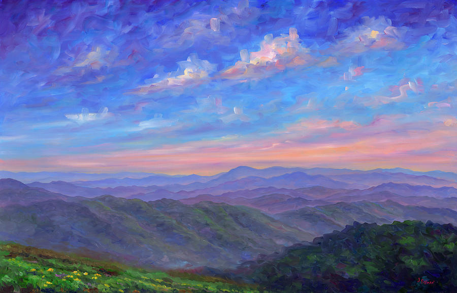 Max Patch Painting - Max Patch North Carolina by Jeff Pittman
