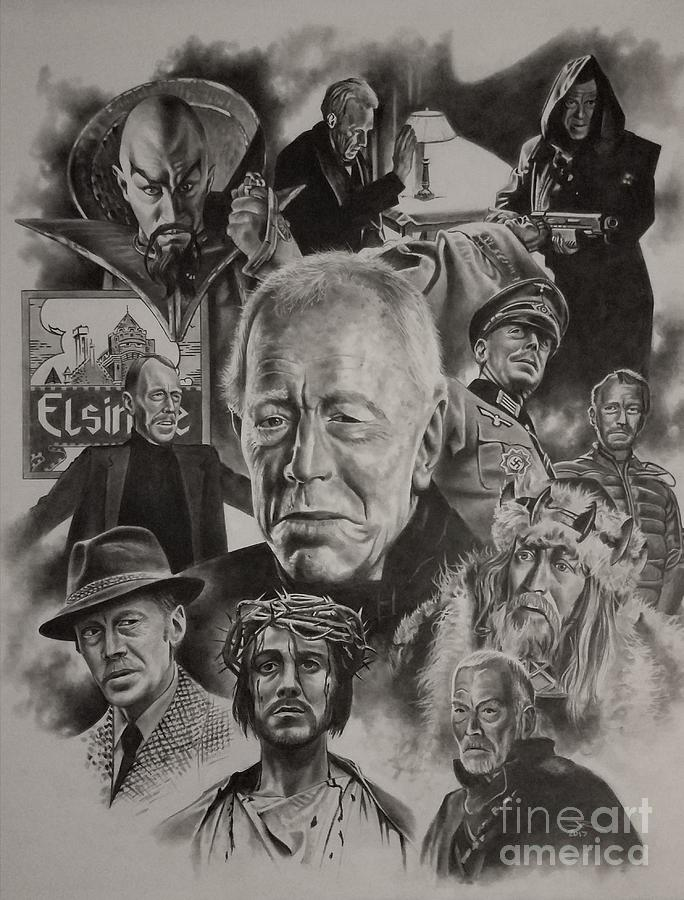 Max Von Sydow Drawing - Max Von Sydow by James Rodgers