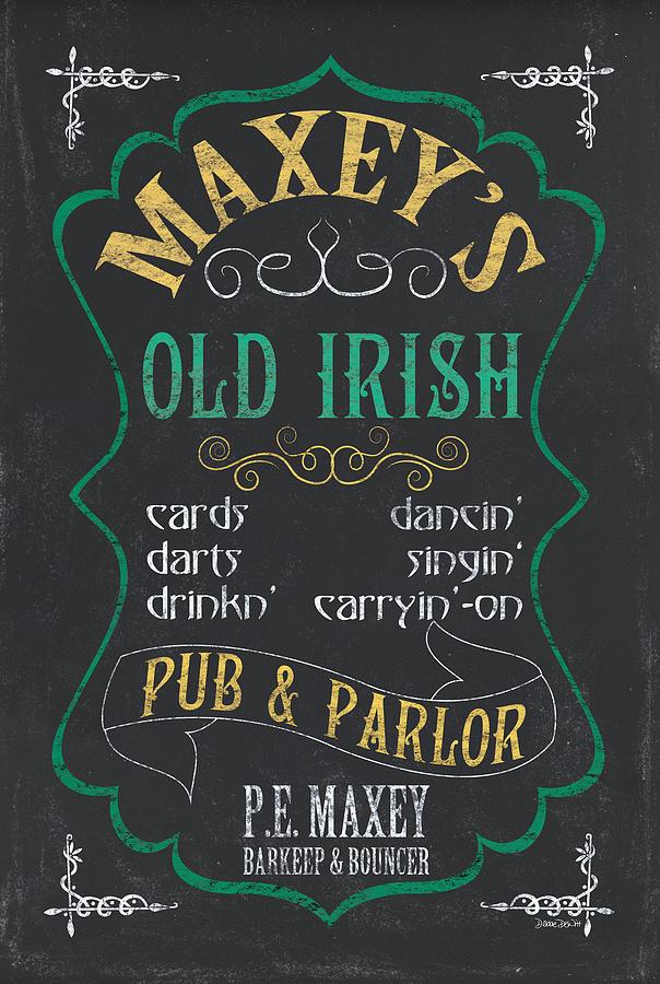 Beer Mixed Media - Maxeys Old Irish Pub by Debbie DeWitt