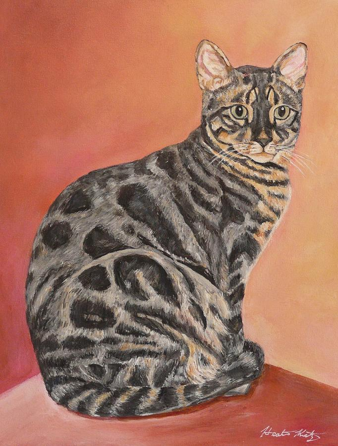 Cat Painting - Maximus by Heather Kertzer