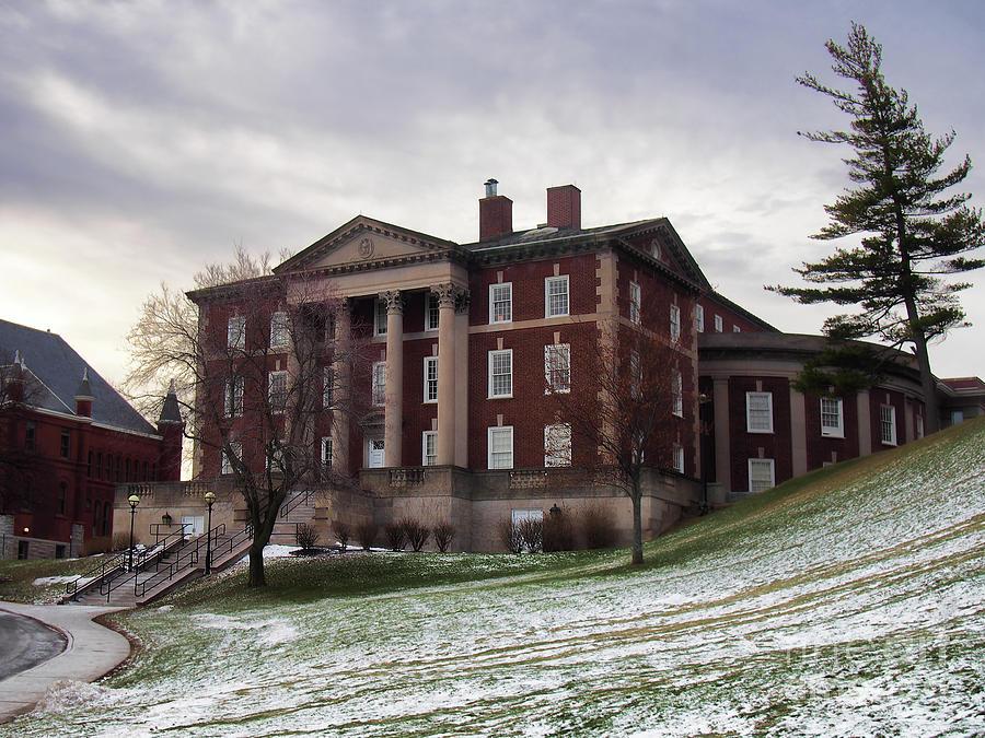 Schools Photograph - Maxwell Hall In Winter by Debra Millet