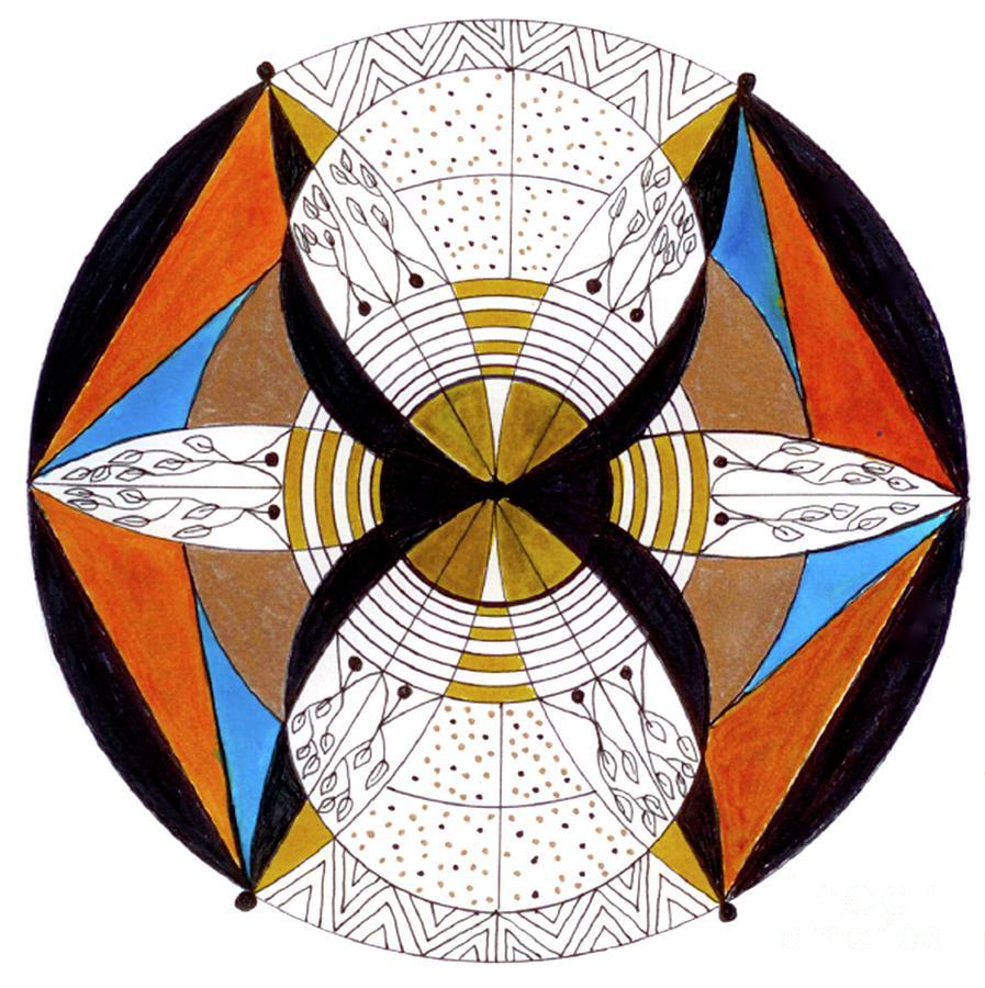 Mandala Drawing - May-bee by Nancy TeWinkel Lauren