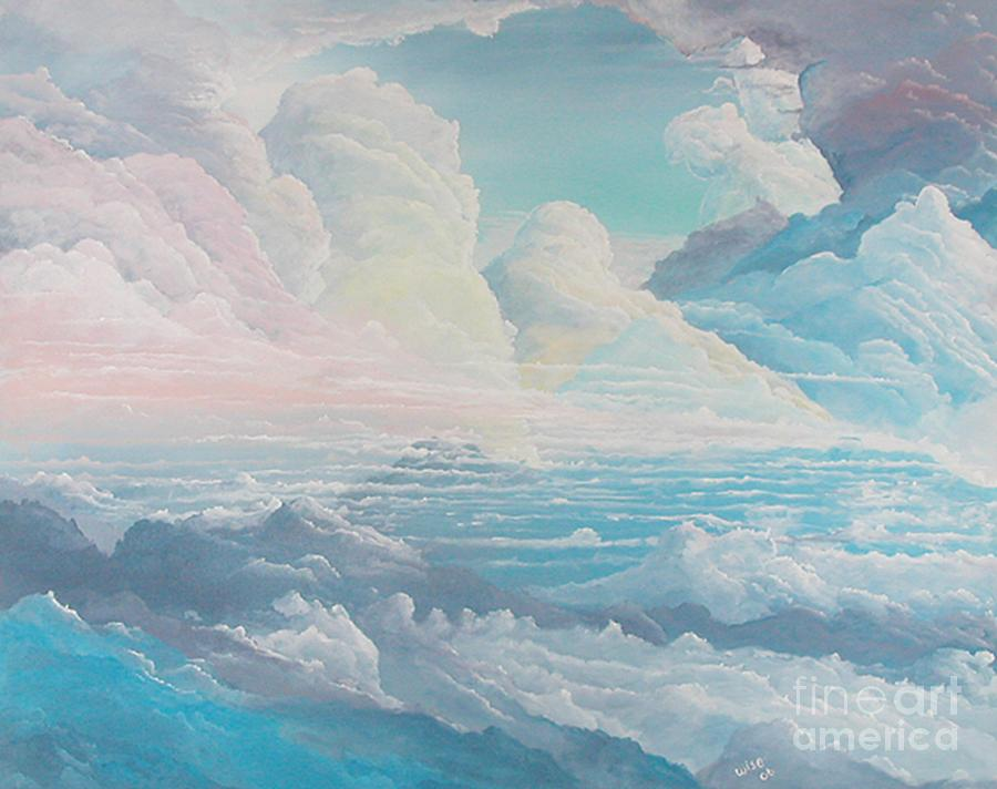 Cloudscape Painting - May Colored Clouds by John Wise