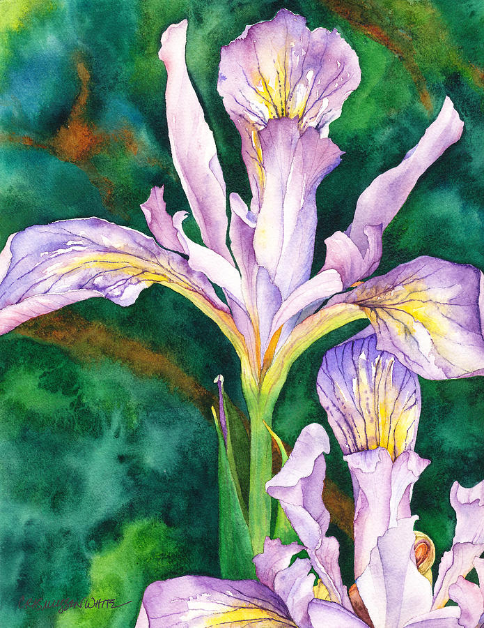 Watercolor Painting - May Day by Casey Rasmussen White