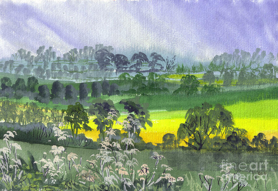 Landscape Painting - May Essex Uk by Dianne Green