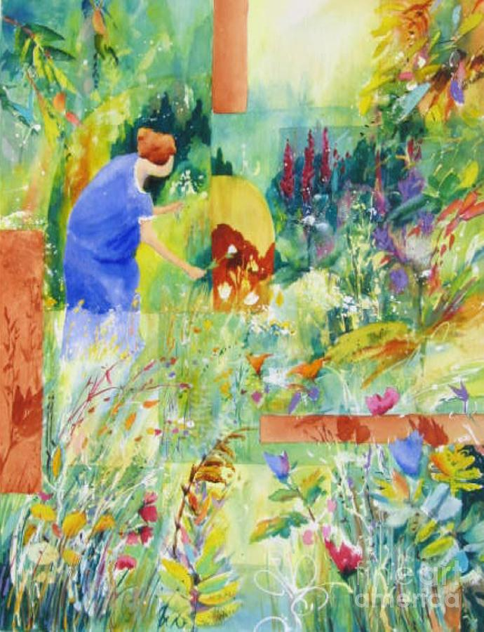 Abstract Paintings Painting - May Meadow by John Nussbaum