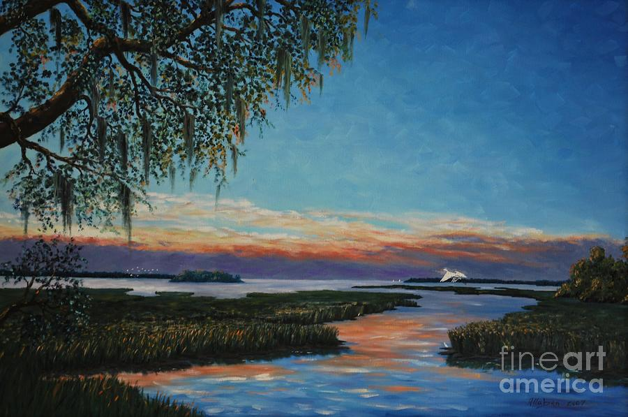 Sunset Painting - May River Sunset by Stanton Allaben