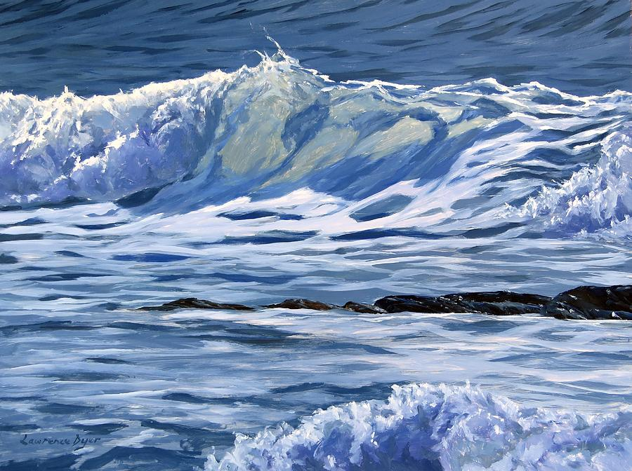 Waves Painting - May Wave by Lawrence Dyer