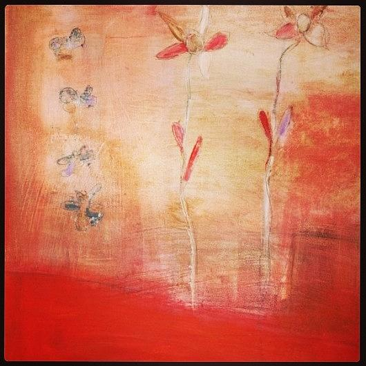 Red Painting - May You Soar by Patricia Byron
