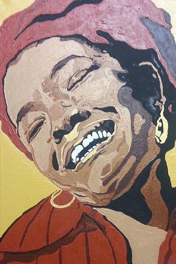 Maya Angelou Painting - Maya Angelou by Rachel Natalie Rawlins