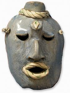 Mask Sculpture - Maya by Mary Jo