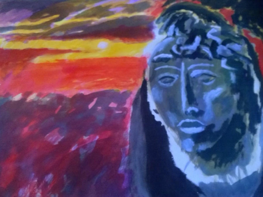 Maya Painting - Maya Sunset by Enrico Garff