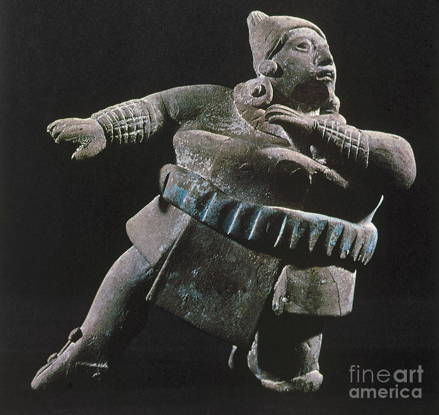 8th Century Photograph - Mayan Athlete, 700-900 A.d by Granger