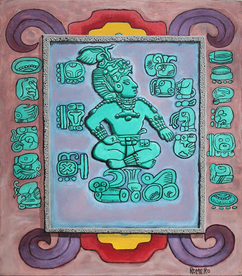 Mayan Painting - Mayan Prince by Antonio Romero