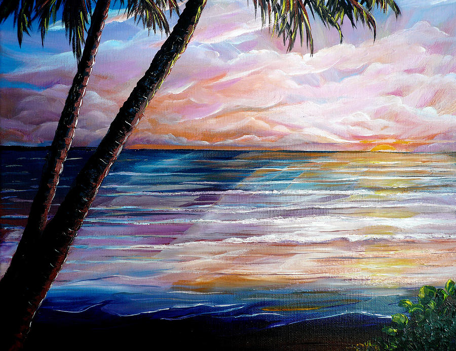 caribbean seascape paintings dawn painting by karin dawn kelshall best