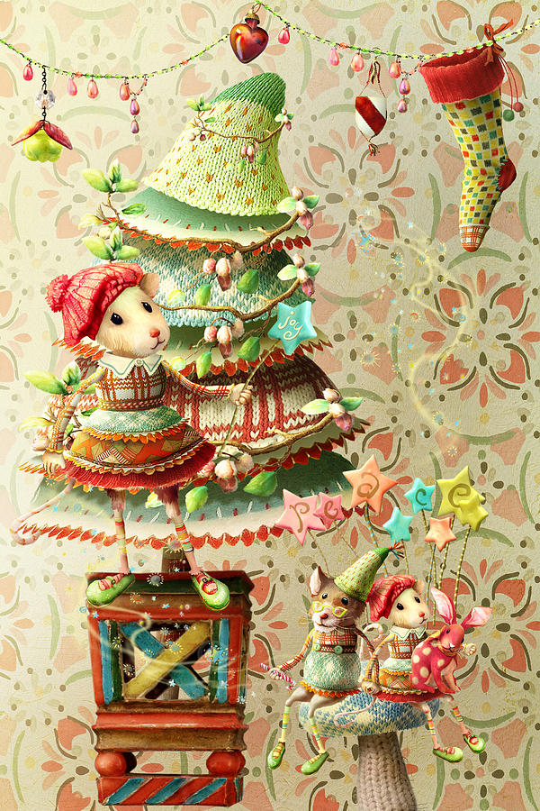 Christmas Digital Art - Maybel Family Peace by Laura Botsford