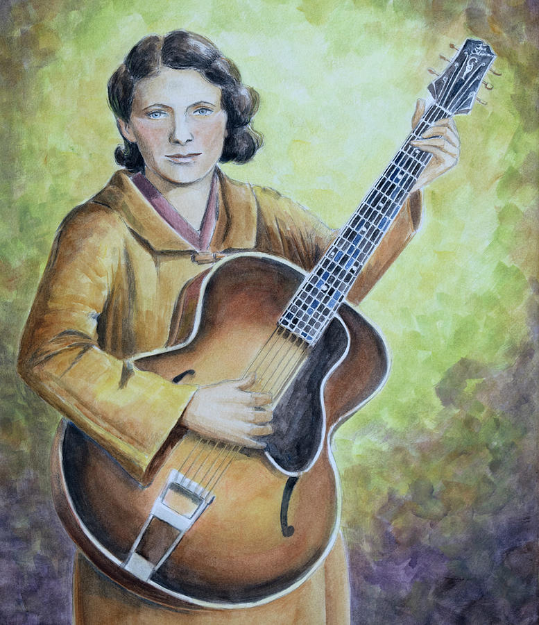 Maybelle Carter Painting - Maybelle Carter by Paula McHugh