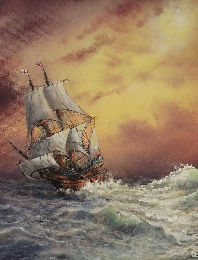 Wooden Ship Paintings